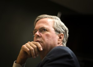 Republican presidential candidate Jeb Bush appears at the Review Journal editorial board on Monday, Dec. 14, 2015. Jeff Scheid/ Las Vegas Review-Journal Follow @jlscheid