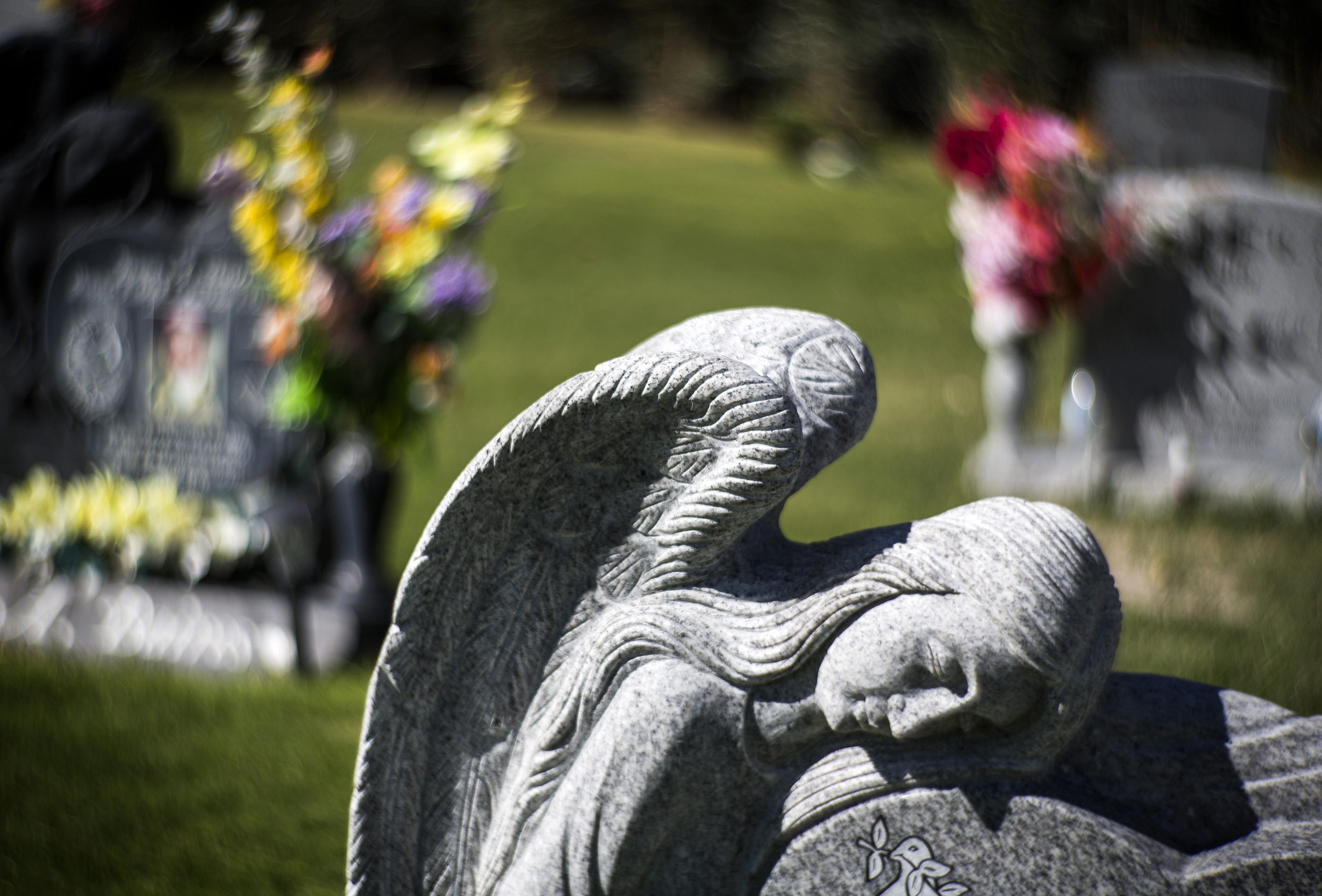 Tombstones is seen at Bunkers Eden Vale Cemetery, 925 Las Vegas Boulevard, North on Friday, Oct. 2,2015. Jeff Scheid/ Las Vegas Review-Journal Follow @jlscheid