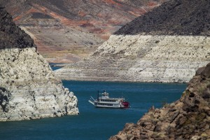 The Desert Princess cruises on Lake Mead near Hoover Dam on Tuesday, June 16, 2015. The forecast calls for highs in the 110's through the end of the week. Follow Jeff Scheid on Twitter @jlscheid (Jeff Scheid/Las Vegas Review-Journal)