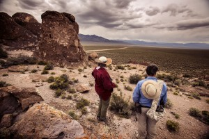 Naturalist and outdoorsman Jim Boone,right, and his wife Liz view Garden Valley, over a three hour drive north of Las Vegas, on Wednesday, May 20,2015. Over 800,000 acres in central Nevada is proposed as the Basin and Range National Monument. Jeff Scheid/Las Vegas Review-Journal) Follow Jeff Scheid on Twitter @jlscheid